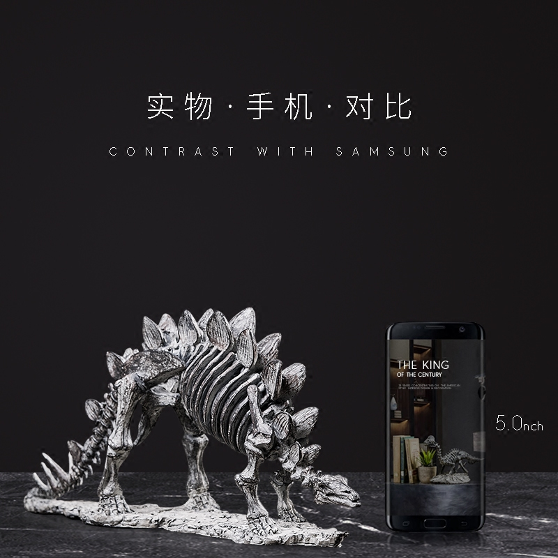 Dinosaur Fossils Living Room Saber Toothed Dragon Home Furnishings Animal Models Creative Crafts - 3