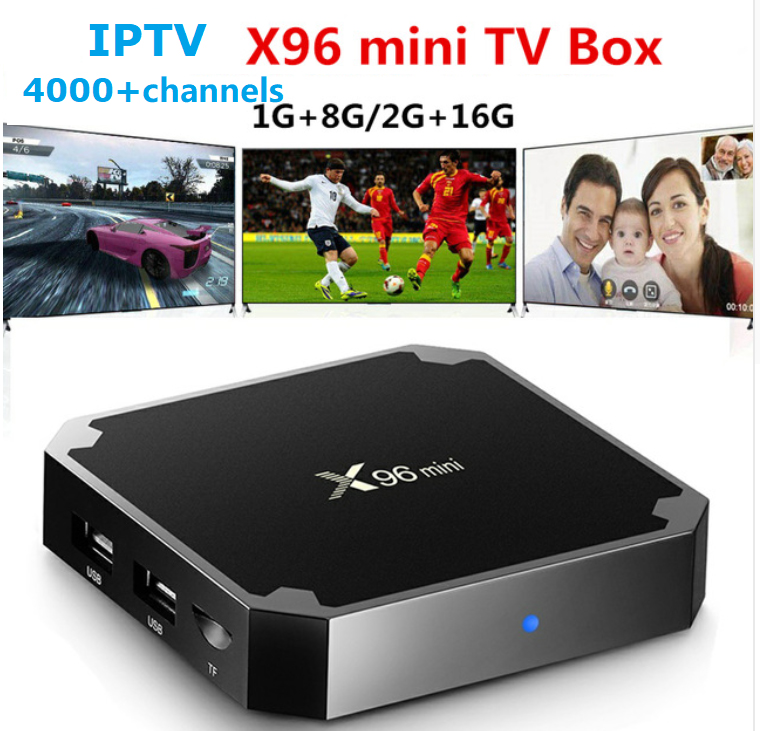 X96 mini Android 7 1 TV Box EVDTV Subscription Arabic French IPTV Box 2G 16G H