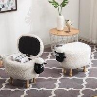 2018 New Wood Organizador Organizer Sheep Storage Box Children Cartoon Chair Animal Stool Sundries Personalized Customization