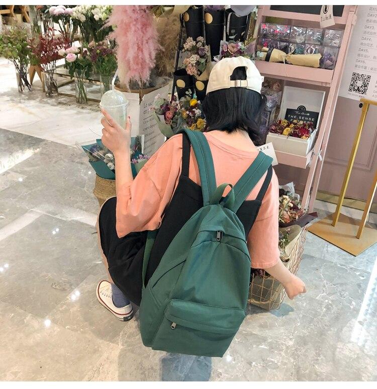 HTB1pIDRXAL0gK0jSZFAq6AA9pXaP 2019 Backpack Women Backpack Solid Color Women Shoulder Bag Fashion School Bag For Teenage Girl Children Backpacks Travel Bag