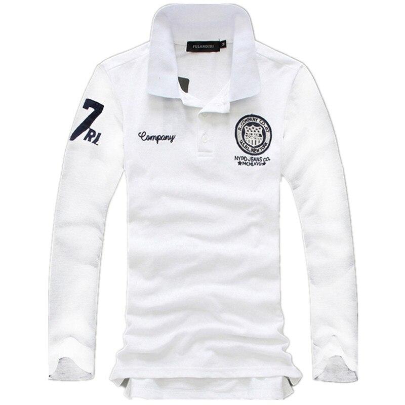 Large Size 5XL Spring Autumn Men's Long Sleeve   POLO   Shirts Multi Color Choice Cotton Fashion Casual Embroidery Men   Polo   Shirt