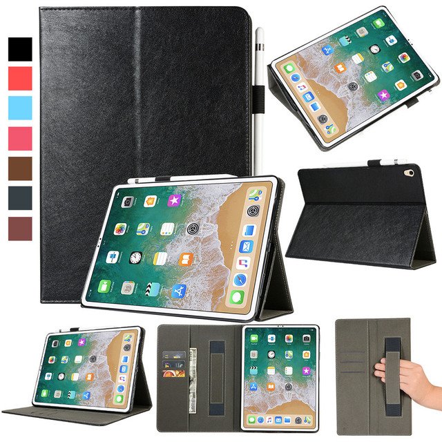 CaseMe For iPad Pro 11'' 2018 Release Folio Leather Wallet Card Stand Cover Tablet