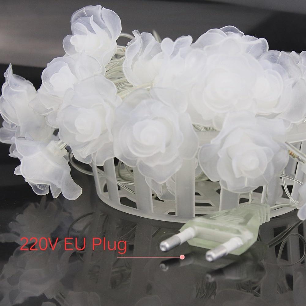 1 M-4 M Rose Slingers LED String Lights Night Decoratie Bloemen Licht - Vakantie verlichting - Foto 6