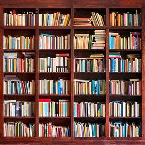 Laeacco Fotografischen Kulissen Bücherregal Studie Zimmer Dekoration Photo Tapeten Für Fotografie Hintergründe Für Foto Studio