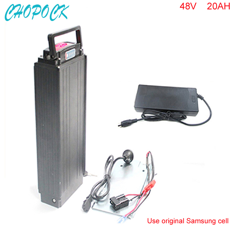 Hot 18650 battery pack for electric vehicle 48v 20ah ebike battery pack 48v 1000w bafang motor with rear rack For Samsung cell 2017 liitokala 2pcs new protected for panasonic 18650 3400mah battery ncr18650b with original new pcb 3 7v
