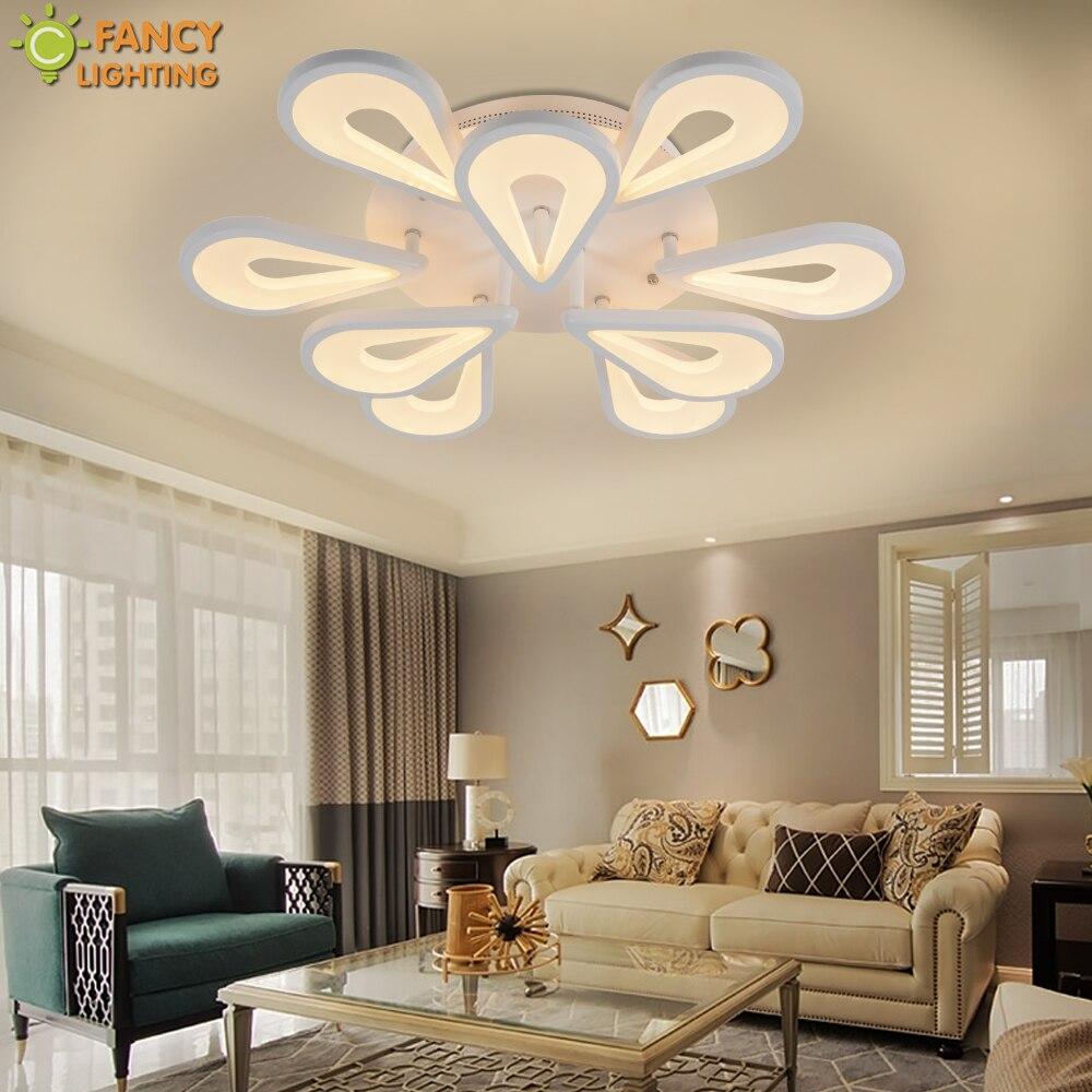Moderne Lustre Éclairage Chaud/Nature/Cool Blanc Goutte D'eau Gradation LED Lumière Pour Chambre/salon/ home Decor Plafond Lampe