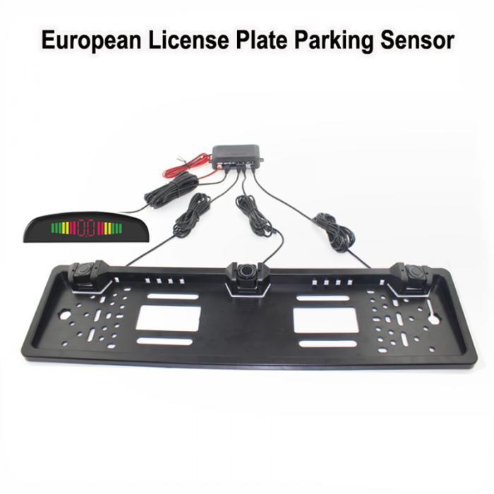 Auto Parkplatz Sensor Led anzeige Europäischen Kennzeichen Rahmen ...