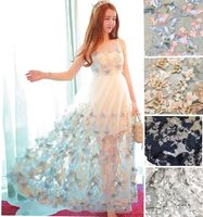 South Korea 3D three - dimensional flower network yarn butterfly decals multicolor embroidery lace Europe and the United States