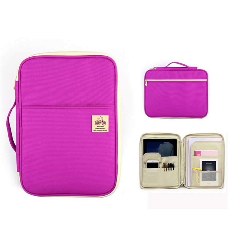 Waterproof Oxford A4 File Folder Document Bag Business Briefcase  For Notebooks Pens IPad Computers Student Gift Laptop Bag