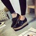 ПЛОСКИЕ Оксфорд Обувь Женщина Осень Квартиры 2016 Мода Brogue Оксфорд Женская Обувь мокасины sapatos femininos sapatilhas zapatos mujer