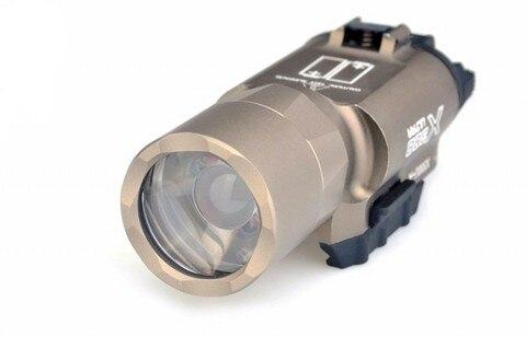 luz led lanterna tatica softair pistola de ar lampada caca luzes ex359