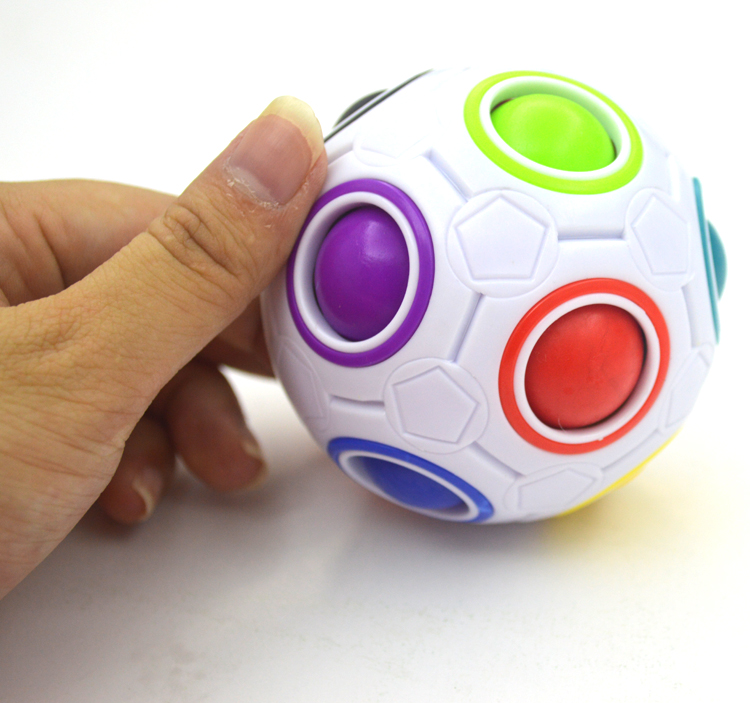 2017 Strange shape Magic Cube Fidget Toy Desk Toy Anti Stress Rainbow Ball Football Puzzles Christmas