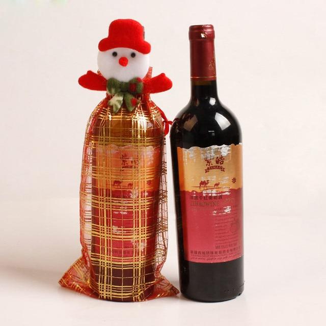 Decorazioni Bottiglie Natalizie.Natale Babbo Natale Borse Copertura Della Bottiglia Di Vino Rosso