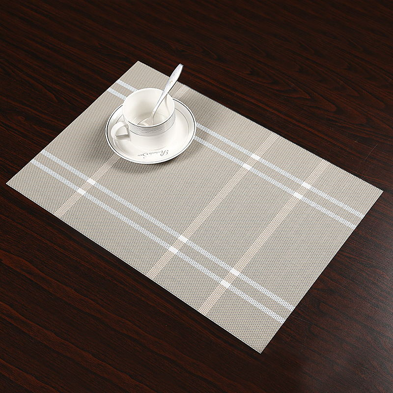 4Pcs/lot Fashion Plaid PVC Dining Table Placemat Europe Style Kitchen Tool Tableware Pad Coaster Coffee Tea Place Mat
