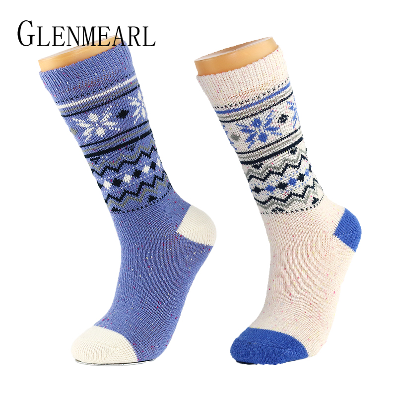 Žakárové dámské ponožky měkké teplý podzim zima vysoce kvalitní značka punčochové kalhoty Coolmax kompresní dámské kotníkové ponožky 2PK