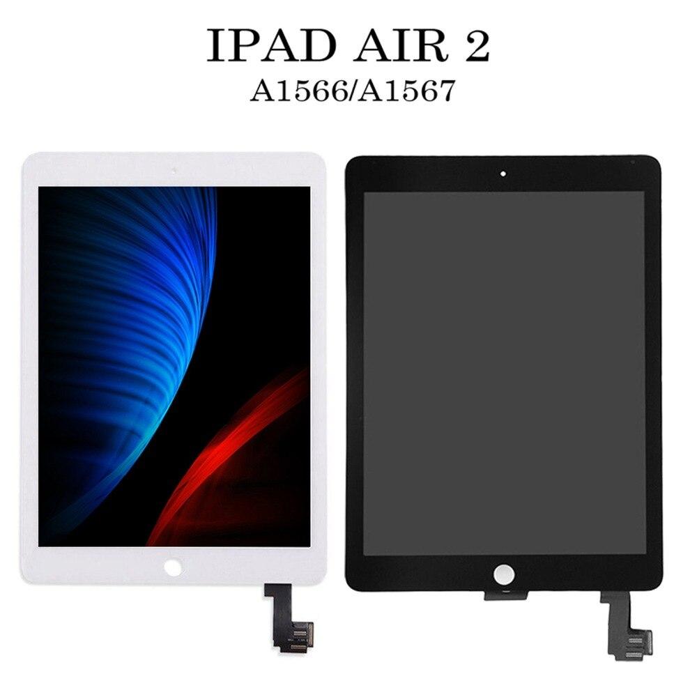 Nouveau LCD pour iPad Air 2 2nd Gen pour iPad 6 7.9 pouces A1567 A1566 LCD écran tactile numériseur assemblée blanc et noir