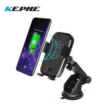 10 W Qi Mount chargeur de voiture sans fil facile à toucher automatique IR véhicule support de téléphone pour Samsung Galaxy S9 S8 S7 Note 8 iPhone X