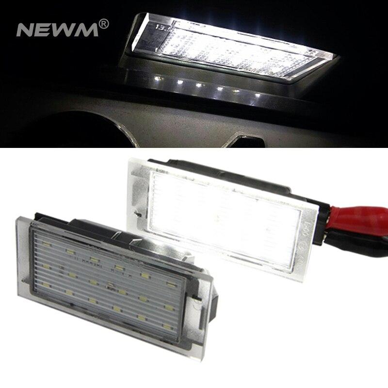 N06 2x TOP LED Kennzeichenbeleuchtung Renault Clio III 3 Kasten SB SR ab 2007