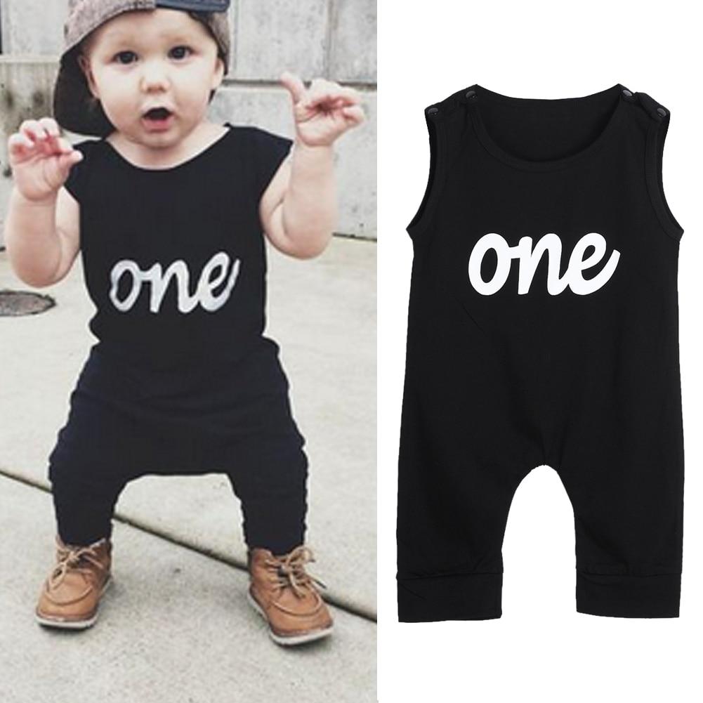 Love Wins Printed Newborn Baby Jumpsuit Long Sleeve Romper Black