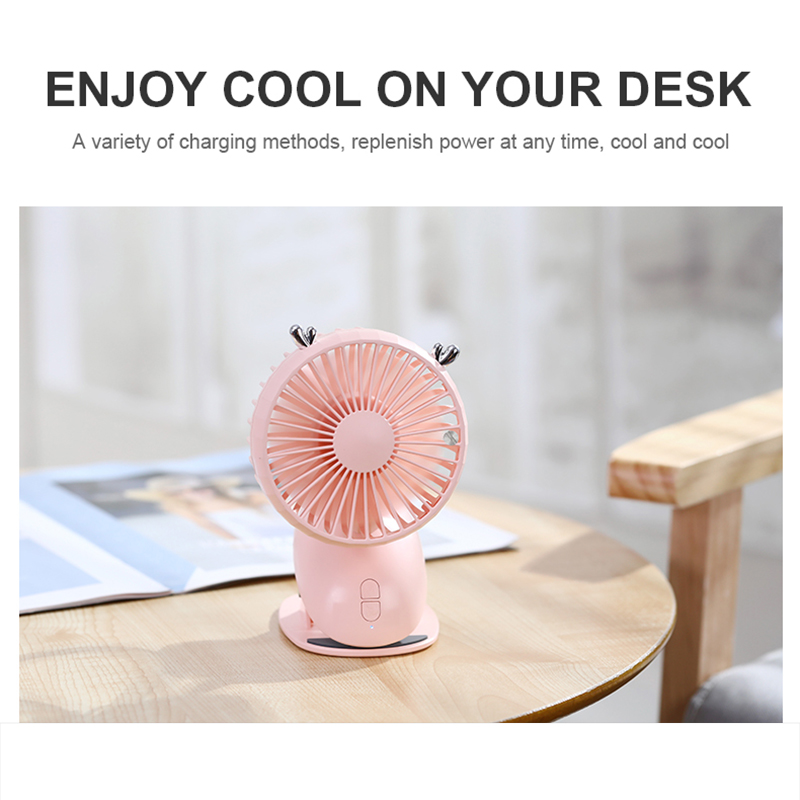 2000 mAh Battery Fan Clip Table Desk USB Fans Portable 360 Degree Quiet Third Gear Speed  Fans Cooling for Stroller Office Home