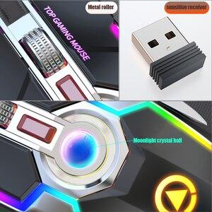 Image 5 - Bezprzewodowa mysz akumulatorowa gra esports dedykowana cicha cicha bezprzewodowa mysz komputerowa do laptopa PC nowość mysz bezprzewodowa