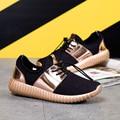 New Men   Casual Shoes Fashion Breathable Shoes Grey Black Lacing Flat Shoes Plus Size Size 35-46