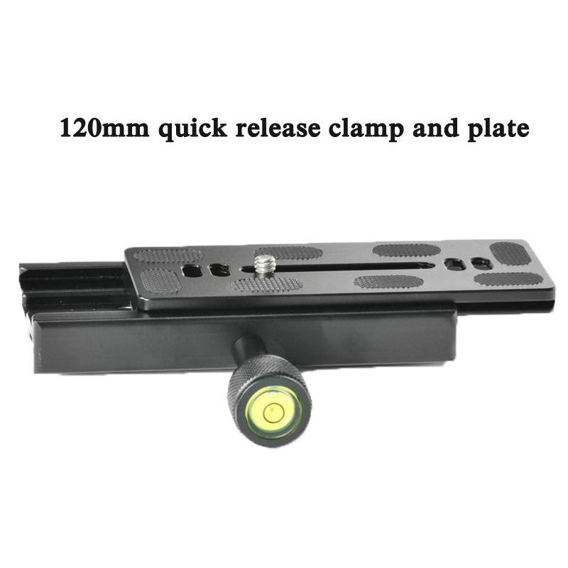 QR-120 Clamp Adapter Quick Release Plate 1/43/8 for Arca SWISS RSS Tripod Ball Head 120mm long Quick Release clamp