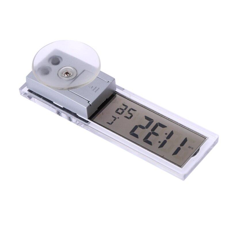 Часы Автомобиль Мини Автомобильный цифровой ЖК-дисплей horloge термометр Температура метр ж/присоске AG10 кнопки сотового работать Интимные аксессуары