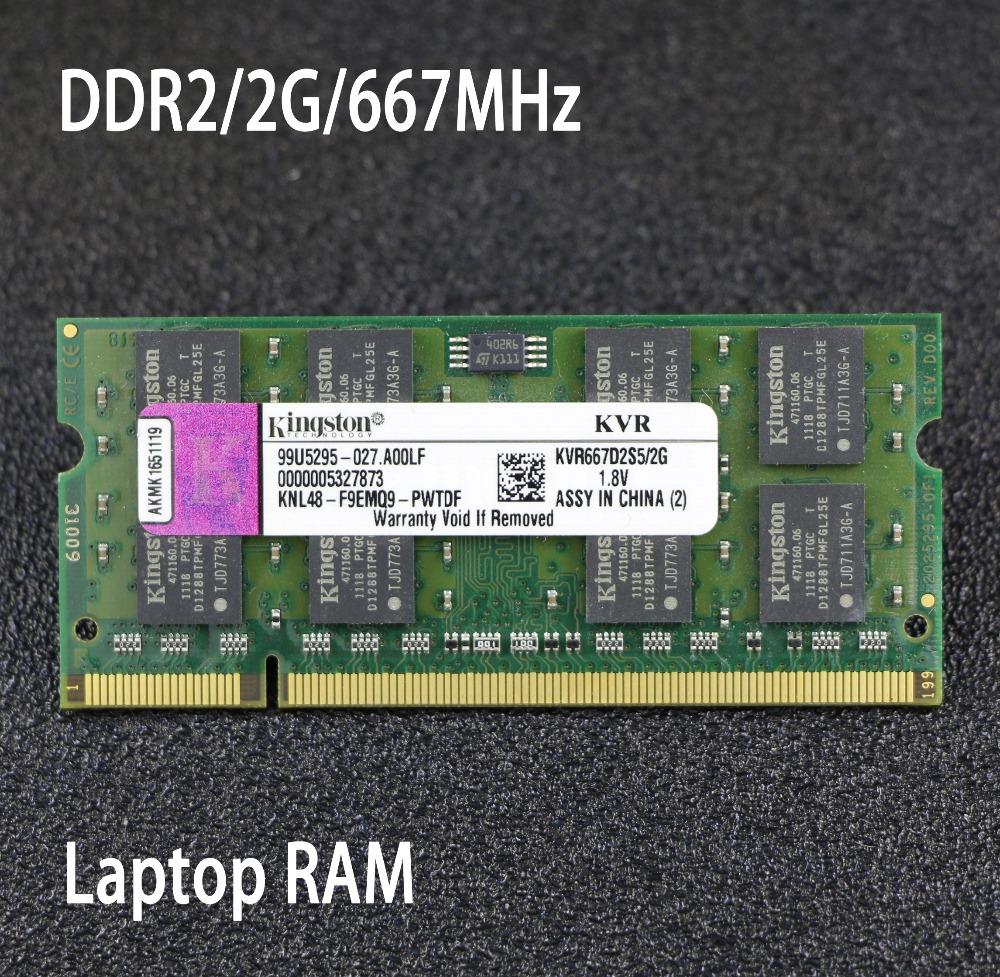 D'origine Kingston 2 gb 4 gb PC2-5300S DDR2 667 667 mhz 200pin DDR 2 Ordinateur Portable Mémoire 2g 4g pc2 5300 667 Portable pour intel pour amd