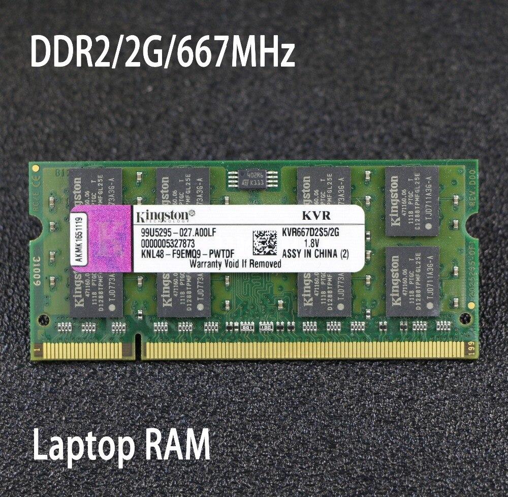 Original Kingston 2 gb 4 gb PC2-5300S DDR2 667 667 mhz 200pin DDR 2 Laptop Speicher 2g 4g pc2 5300 667 Notebook für intel für amd