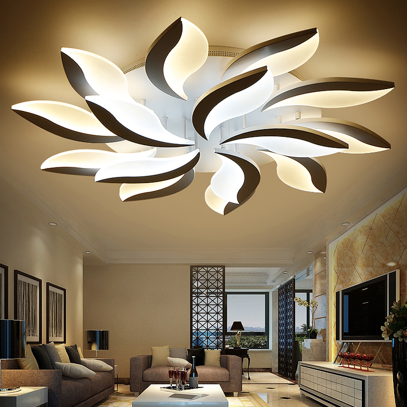 New Flower Dimmable LED Ceiling Light Living Room Bedroom Lustres Ceiling Lamp Acrylic Lamparas De Techo LED Ceiling Lighting