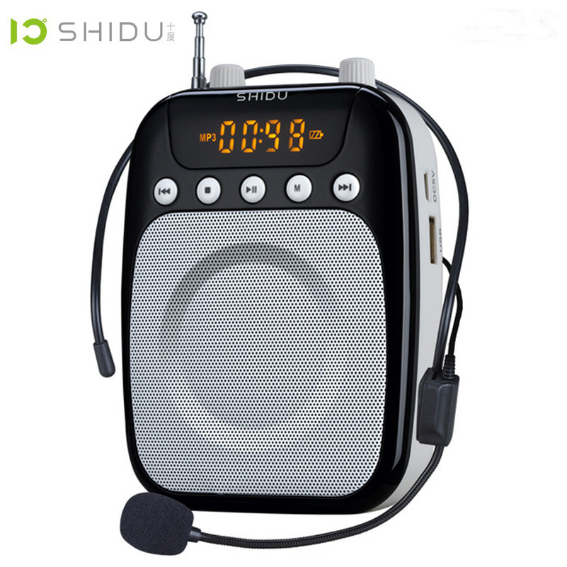 Shidu S358 Loudspeaker with Microphone Voice Amplifier Booster Megaphone Speaker For Teaching Tour Guide Sales Promotion цена и фото