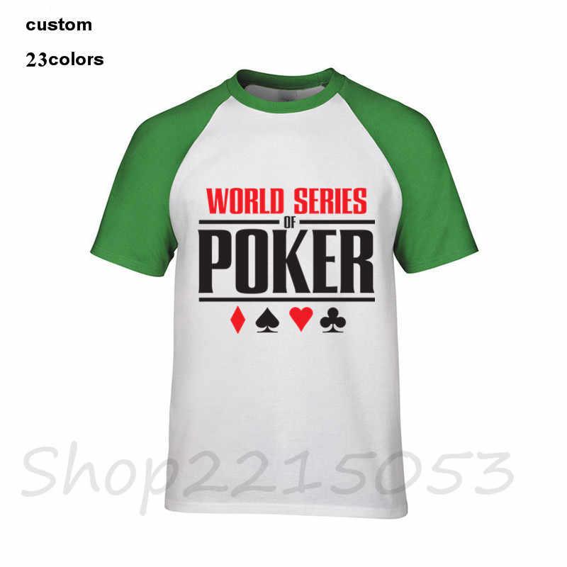 最新トレンディ夏格安価格 O ネック男性 Tシャツ男性の世界シリーズポーカー Tシャツ Wsop のロゴプリント tシャツ服 tシャツ