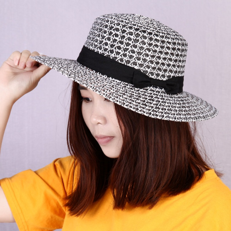 Summer Beach Straw Hat for Women Bow Boho chapeu feminino Weekend Picnic Hat  for Women Deep Color Fashion Hat for Women-in Sun Hats from Apparel  Accessories ... e8bf58da29c5