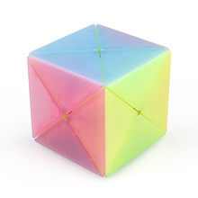 Jelly Color Qiyi X-shaped 8 Axis Magic Cube Educational Toys Strange Shape Cubes Twisty Puzzle Sensory Toy Girl Powder Gift