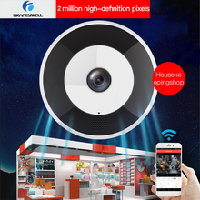 лучшая цена Graneywell Wifi IP Camera 1080P HD Camera Wireless Fisheye VR Panoramic 2MP IP Camera Security Video Surveillance Camera