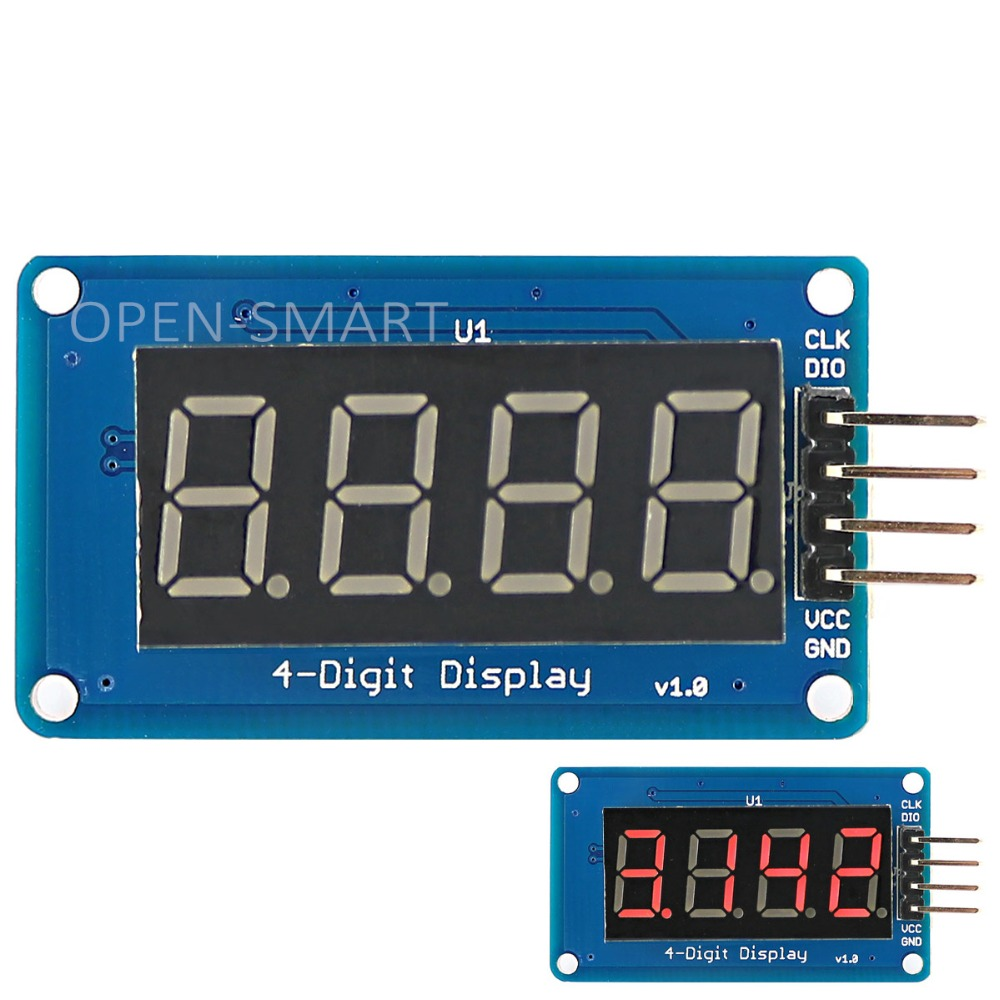 0 36 Quot 4 Digit Led Display Module With Decimal Point Tm1637