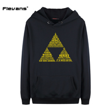 Flevans New Brand Sweatshirt Men Hoodies Fashion Mens Pullover The Legend of Zelda Print Hoody Moleton Masculino