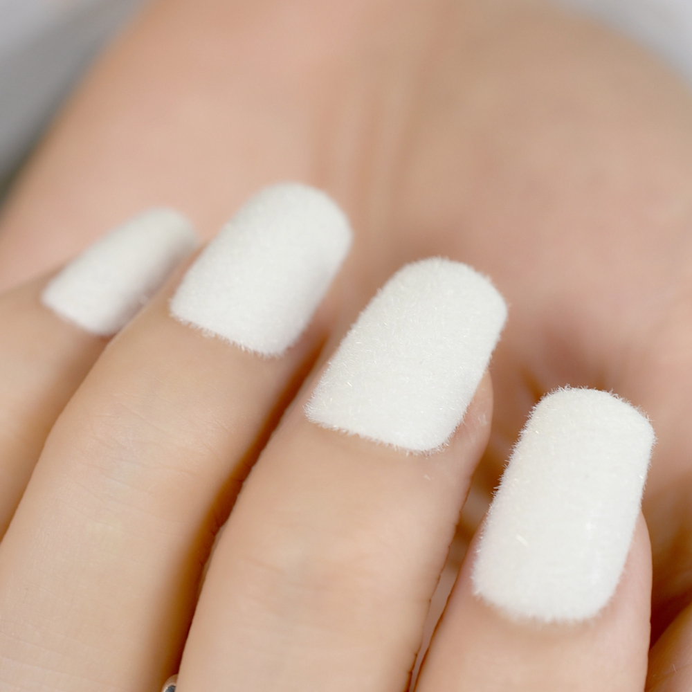 Famous Matte White Fake Nails Inspiration - Nail Art Design Ideas ...