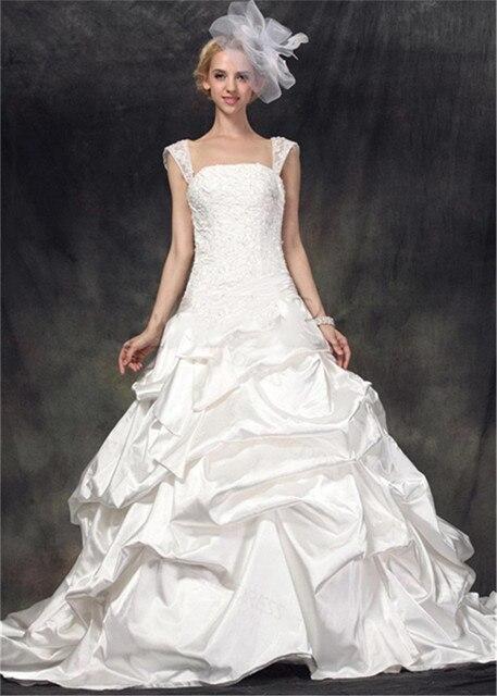 Cap-mangas-festoneado-Glamorous-vestidos-novia-fruncido-falda-de-raso-Vestido-de-Lace-Up-Vestido-Casamento.jpg 640x640.jpg 764ecd40a70