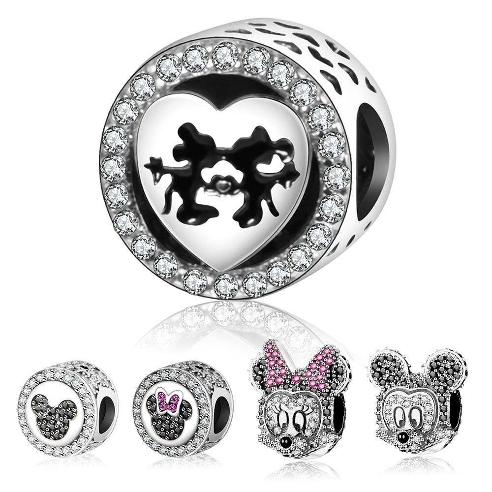 Prix pour 2017 Mignon de Bande Dessinée Classique Perles Charme Avec Mix CZ Fit Original Pandora Charms Bracelet Bijoux DIY Faire Accessoires berloques