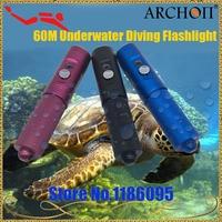 ARCHON V10S Wasserdichte XM-L U2 MAX 860 LM Professionelle 3 Farbe Tauchen Led-taschenlampe Fackel Durch 18650 Batterie