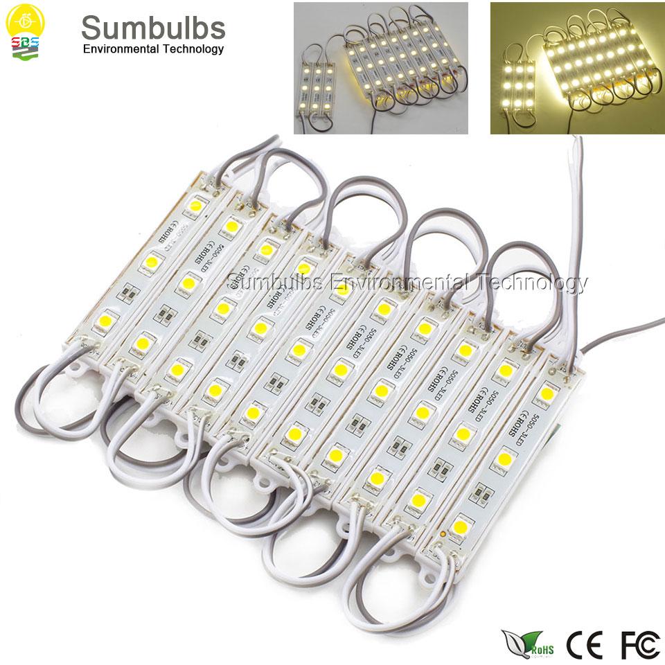 ②20pcs/lot High Quality IP67 Waterproof LED Modules DC12V 5050 3 ...