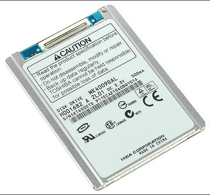 "NEW 1.8 ""HDD CE / ZIF 40GB MK4009GAL HARD DISK UNTUK LAPTOP HP MINI 2510P 2710P SONY DV D420 REPLACE MK6028GAL hs082hb HS06THB"