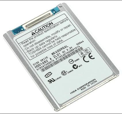 NEW 1 8inch HDD CE ZIF 40GB MK4009GAL HARD DISK  FOR LAPTOP  HP MINI 2510P 2710P SONY DV D420  REPLACE MK6028GAL hs082hb  HS06THB