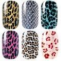 U119 Новый Стильный Leopard Nail Art Наклейки Обертывания Наклейки Клей Для Ногтей Фольга Украшения
