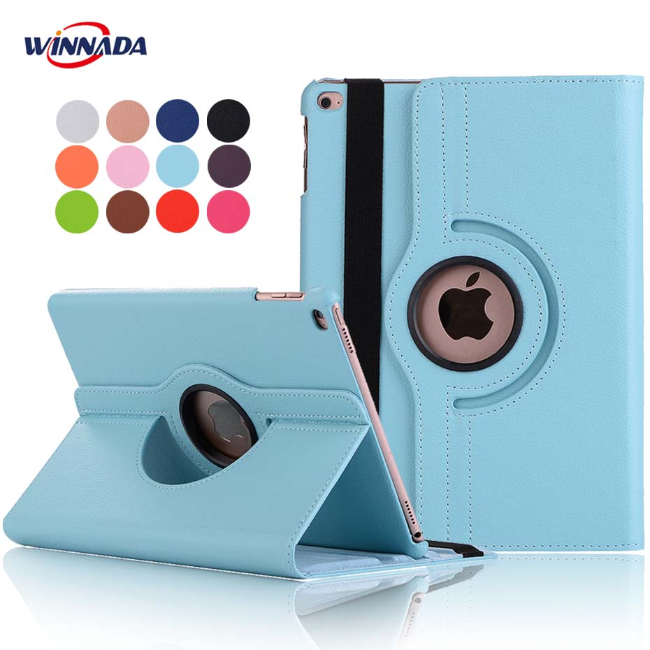 For ipad air 2 case,  lichee grain 360 degree rotate Full Body Protective Cover Flip For ipad air / For ipad 2017 2018 cover