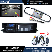 FUWAYDA Wireless Color CCD Car Chip Rear View Camera for Toyota RAV4 RAV 4 + 4.3 Inch rearview Mirror Monitor HD waterproof
