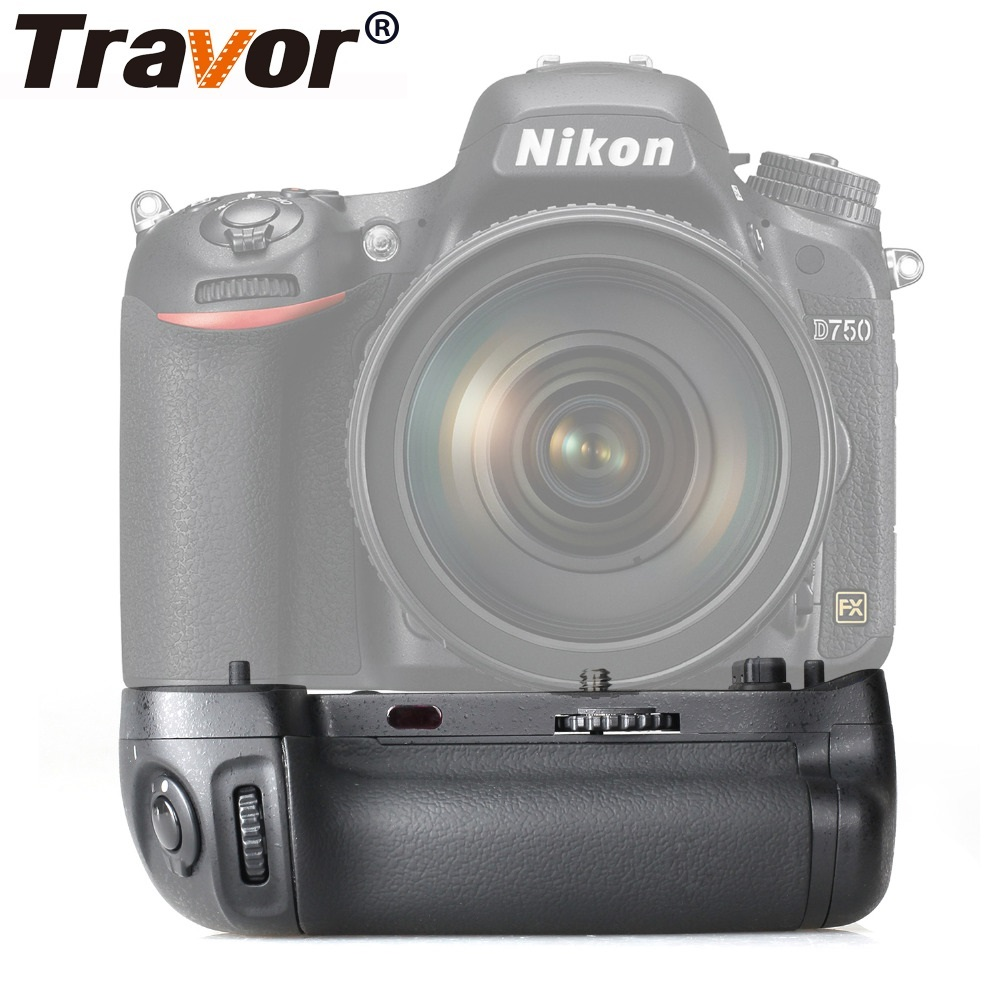 Travor Vertical Camera Battery Grip Holder For NIKON DSLR D750 DSLR Battery Handle Work With EN-EL15 Battery Replace MB-D16 travor vertical battery grip holder for nikon d850 mb d18 dslr camera battery handle work with en el15 battery