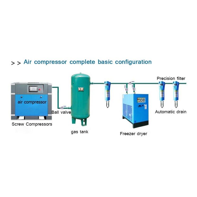 Compresseur d'air à vis 7.5/11/15/22/37kw compresseur d'air à aimant Permanent de qualité industrielle de Conversion de fréquence usine